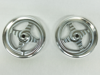 Wheelie Bar Wheels Spoked Pair